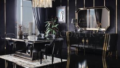 Black Gold Luxury Dining Room