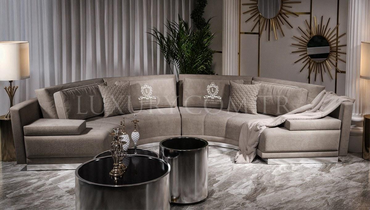 Delux Metal Corner Sofa