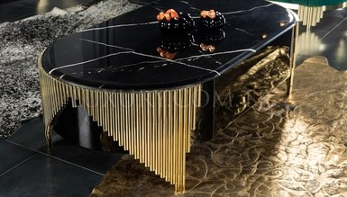 Destan Metal Coffee Table - Thumbnail