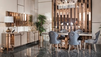 Evora Luxury Metal Dining Room