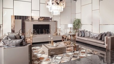 Evora Luxury Metal Living Room