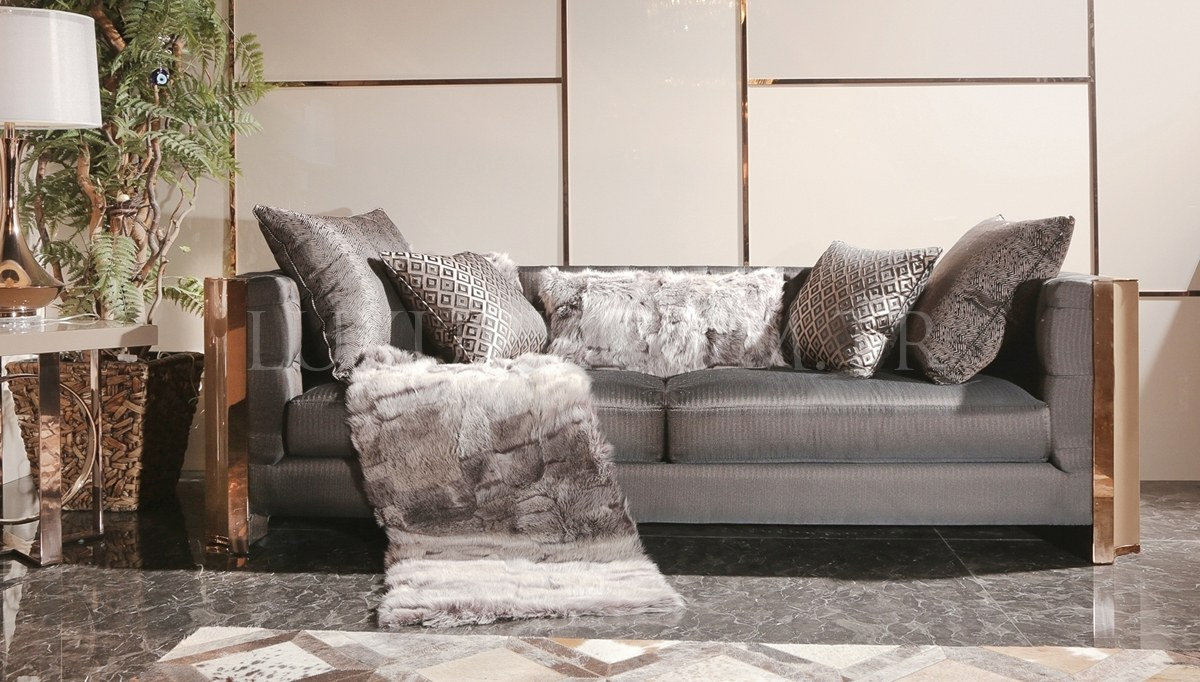 Evora Luxury Metal Living Room