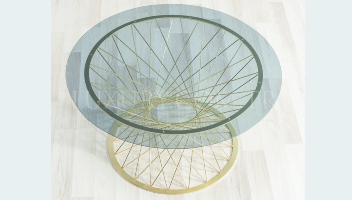 Gostavo Gold Metal Coffee Table