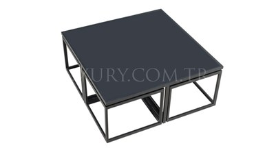 Guşina Black Metal Coffee Table