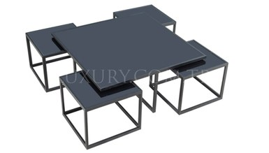 Guşina Black Metal Coffee Table - Thumbnail