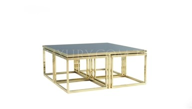 Guşina Gold Metal Coffee Table