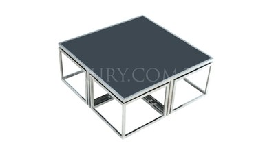 Guşina Silver Metal Coffee Table