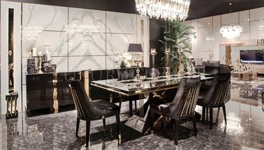 Henna Luxury Metal Dining Room