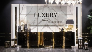Henna Luxury Metal Dining Room - Thumbnail