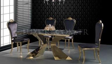 Jagena Gold Metal Dinner Table