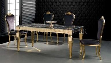 Jarvina Gold Metal Dinner Table