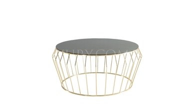 Lipova Gold Metal Coffee Table