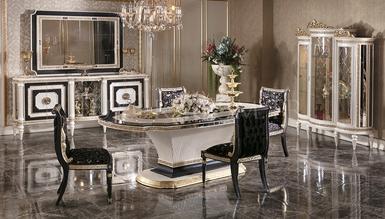 Lüks Beyrut Klasik Beyaz Dining Room