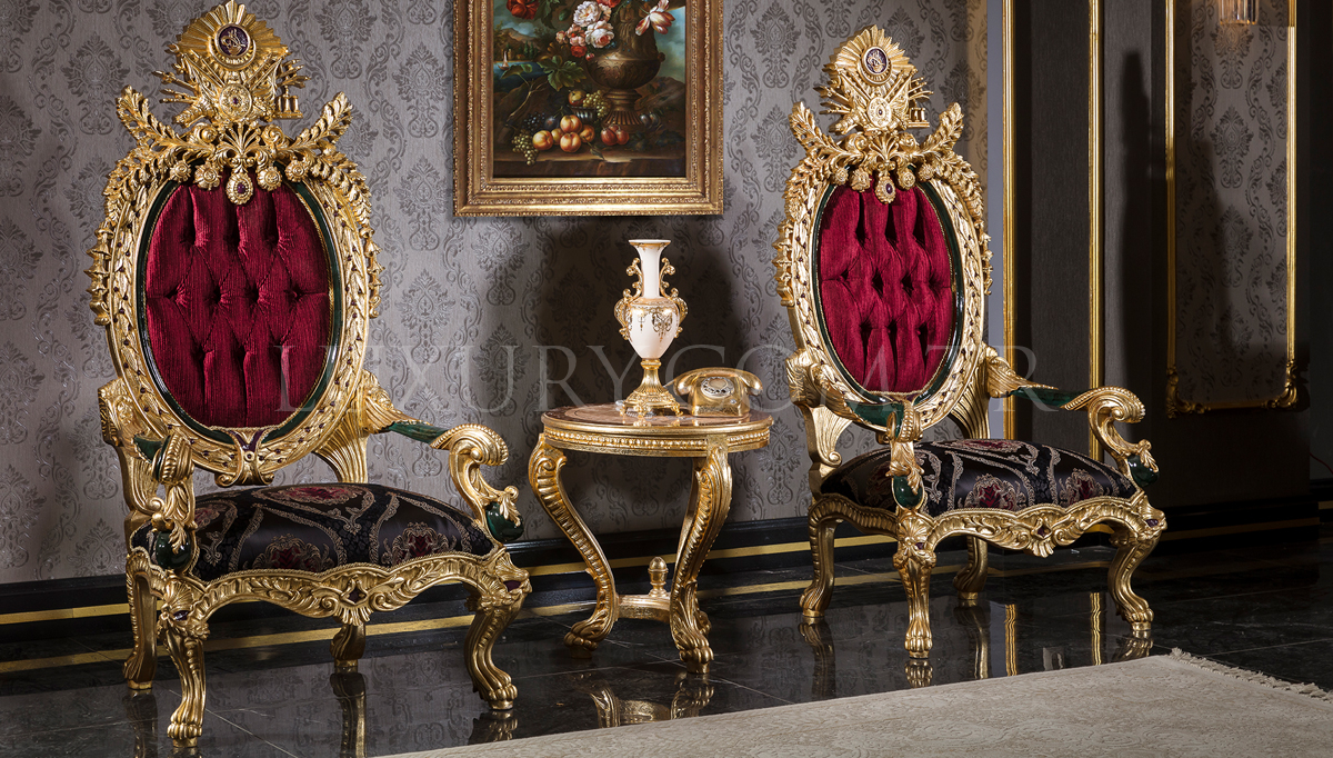 Lüks Tuğra Classic Living Room