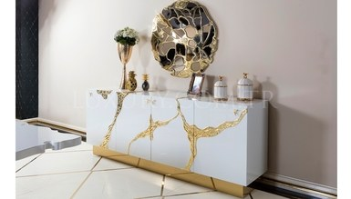 Luxury Metal White Dining Room - Thumbnail