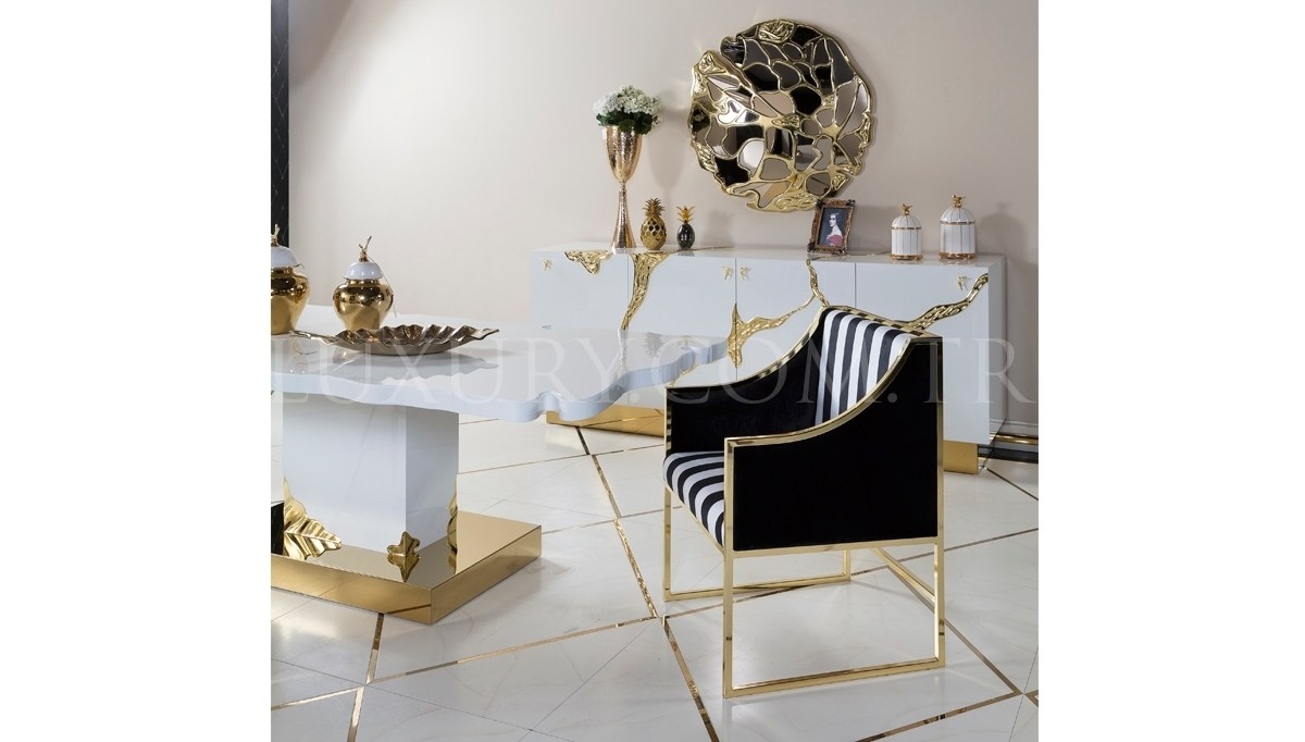 Luxury Metal White Dining Room