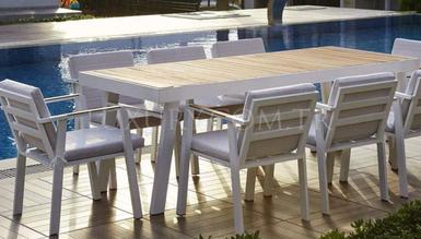 Marco Bahçe Beyaz Masa Takımı