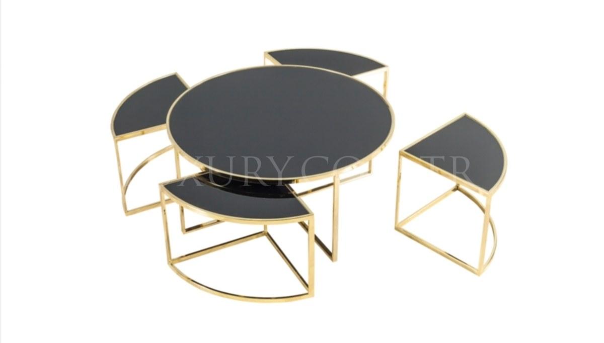 Maruka Gold Metal Coffee Table