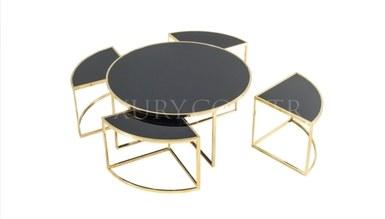 Maruka Gold Metal Coffee Table - Thumbnail