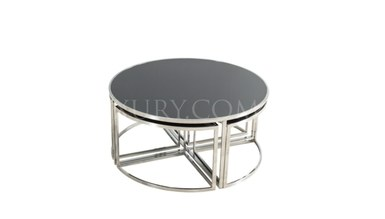 Maruka Silver Metal Coffee Table