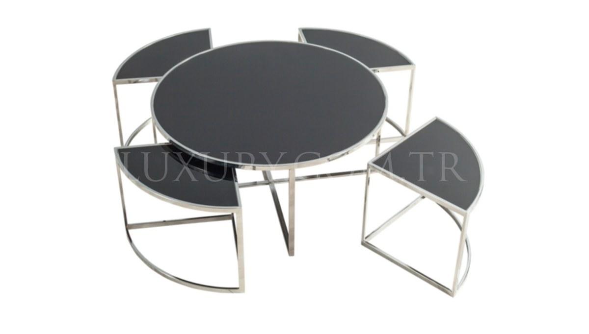 Maruka Silver Metal Coffee Table
