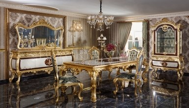 Monesa Gold Leaf Dining Room