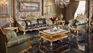 Monesa Gold Leaf Living Room