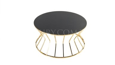 Presa Gold Metal Coffee Table