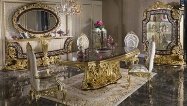 Rönesta Altın Varaklı Dining Room