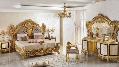 Şehrazat Lake Carved Classic Bedroom - Thumbnail