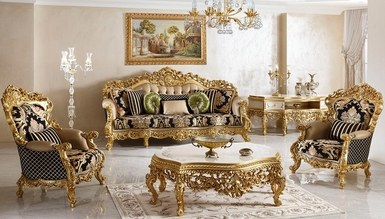 Şehrazat Lake Carved Classic Living Room