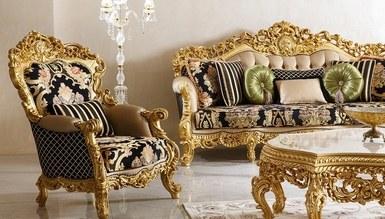 Şehrazat Lake Carved Classic Living Room - Thumbnail