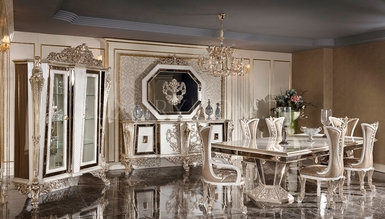 Şehzade Beyaz Classic Dining Room
